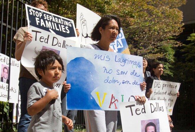Les activistes de « Shut Down Berks » réclament la fermeture du centre depuis quatre ans. © Shut Down Berks