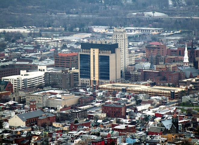 El centro de la ciudad de Reading, Pensilvania. © DR