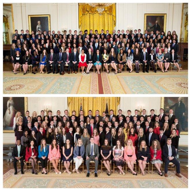 Photos des stagiaires de la Maison Blanche sous Baracak Obama et  Donald Trump