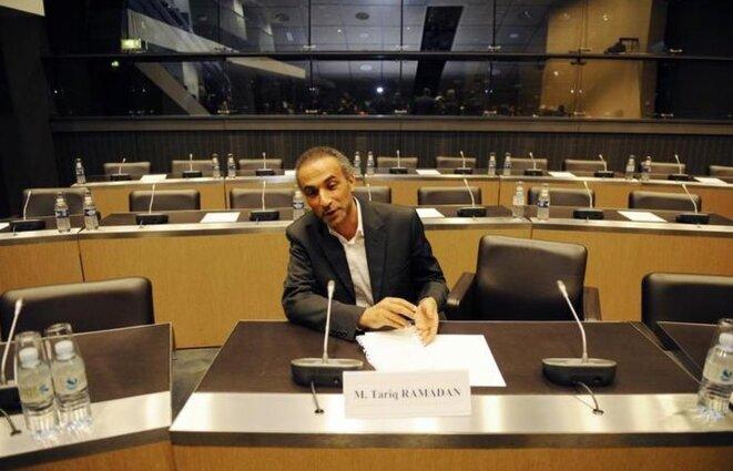 Tariq Ramadan à l'Assemblée nationale, à Paris, le 2 décembre 2009. © Reuters