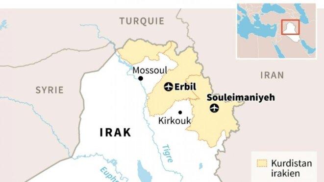 Le Kurdistan irakien actuel