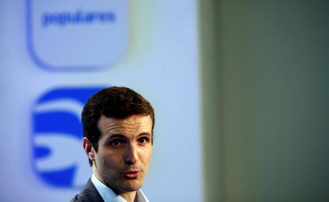 Pablo Casado le 24 mai 2015 à Madrid © Reuters / Juan Medina.