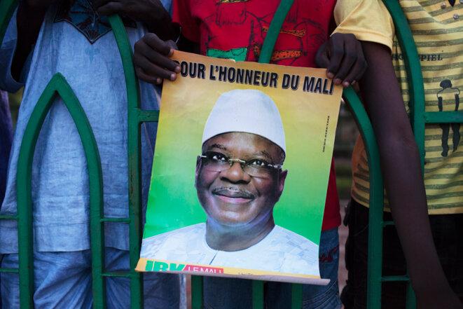 Affiche électorale d'IBK en 2013. © Reuters