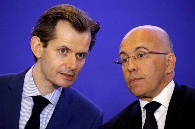 Guillaume Larrivé, corapporteur de la commission d'enquête parlementaire, et le député Éric Ciotti, en avril 2018. Reuters/Charles Platiau