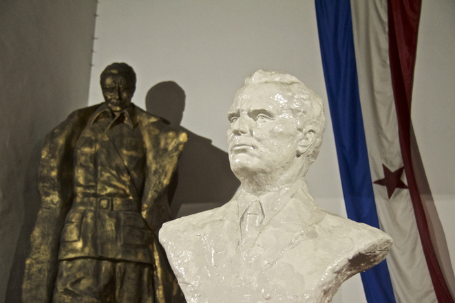 Au musée de la Yougoslavie de Jajce, en Bosnie-Herzégovine. © LG