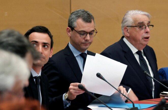 Le secrétaire général de l'Elysée, Alexis Kohler, devant la commission d'enquête sénatoriale sur l'affaire Benalla, jeudi 26 juillet © Reuters