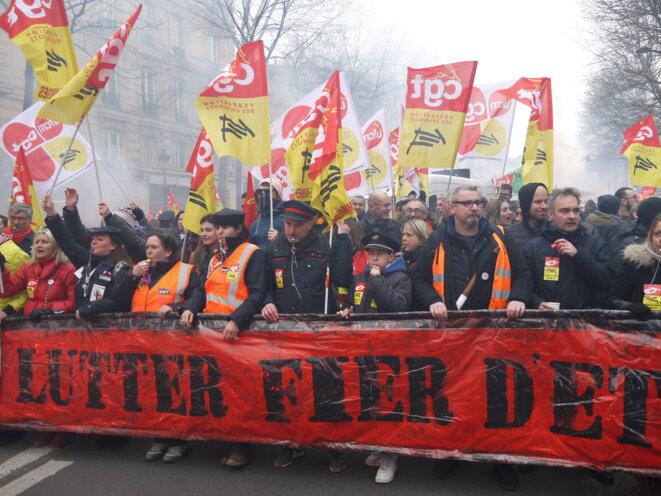 Manifestation de cheminots contre la réforme de la SNCF - 22 mai 2018 © Dan Israël