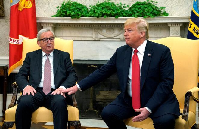 Jean-Claude Juncker et Donald Trump le 25 juillet 2018 © Reuters