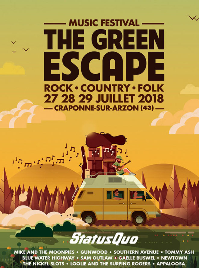 Loolie and the Surfing Rogers à l'affiche aux côtés de Status Quo au Green Escape !