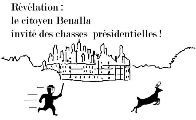 Le citoyen Benalla invité des chasses présidentielles