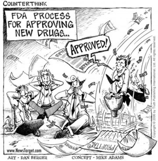 FDA: Food and Drug Administration (l'Autorité suprême du médicament aux Etats-Unis)