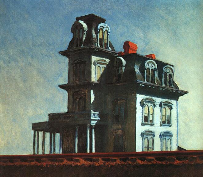 Edward Hopper, « Maison au bord de la voie ferrée », 1925.