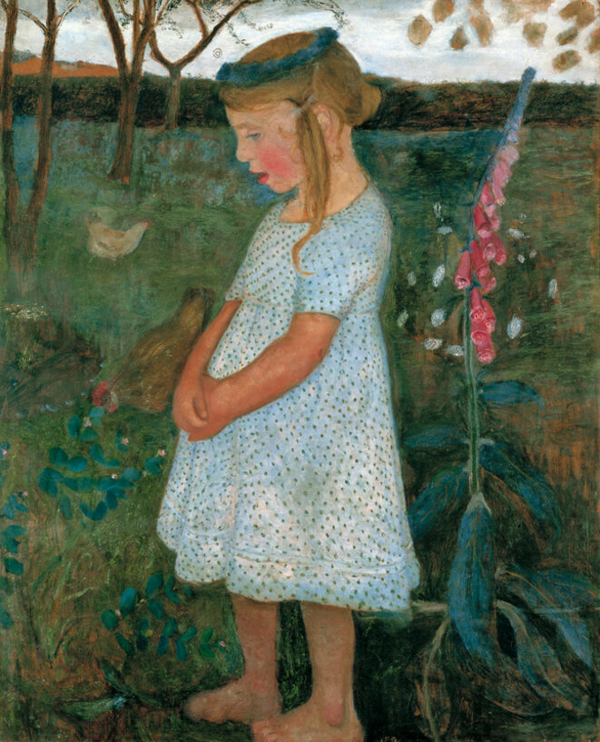 Paula Modersohn-Becker, « Elsbeth im Garten », vers 1901.