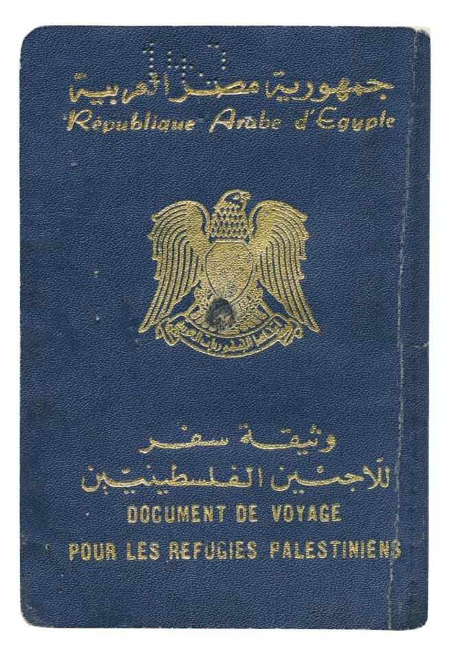 Document de voyage pour les réfugiés palestiniens © Taysir Batniji