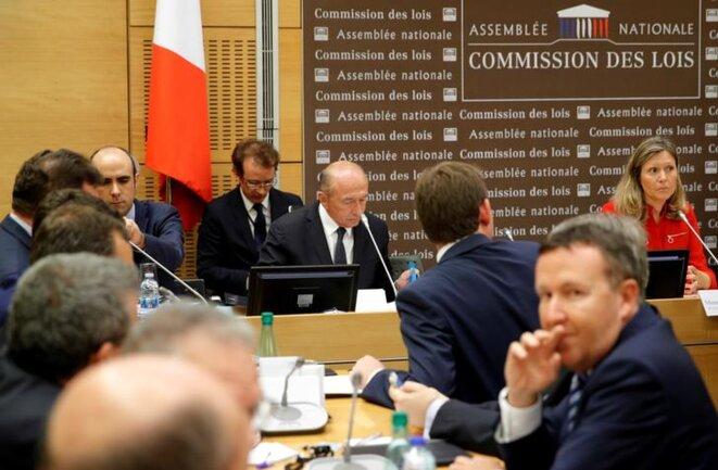 Gérard Collomb devant la commission d'enquête de l'Assemblée nationale, le 23 juillet. © Reuters