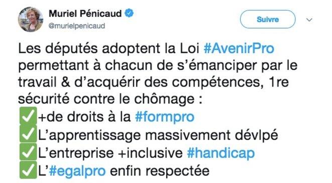 © Compte Twitter de Muriel Pénicaud