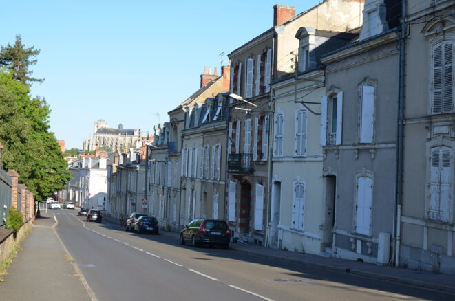 Rue Prémartine in the area of Le Mans where Emmanuel Macron recorded some of his highest voting in 2017. © Justine Brabant