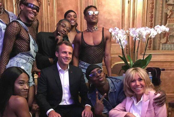 Emmanuel et Brigitte Macron lors de la soirée électro du 21 juin.