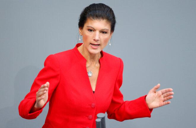 Sahra Wagenknecht, au Bundestag, en avril 2017. © Reuters