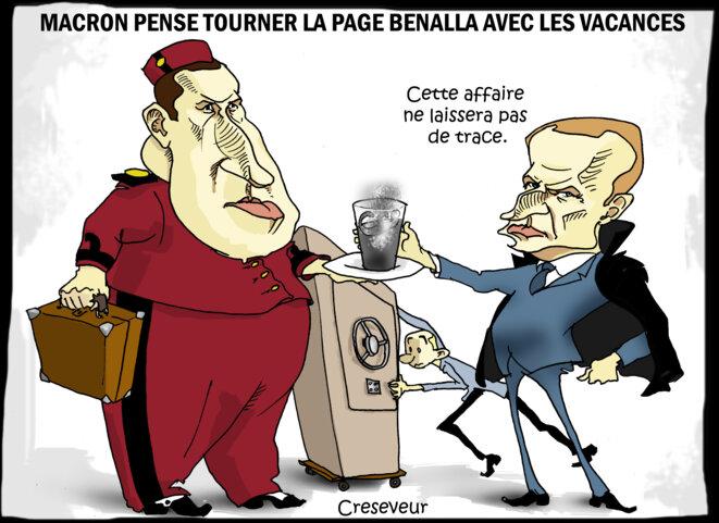 Le dessin du jour (humour en images) - Page 19 Pas-daffaire-benalla