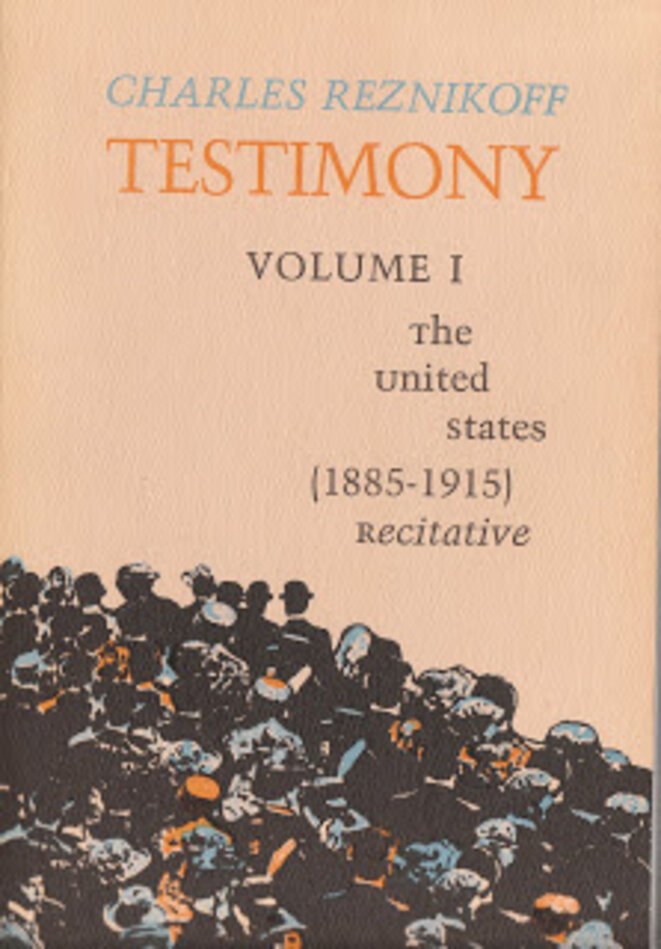 Couverture du volume I de « Testimony » (édition Black Sparrow Press de 1978).