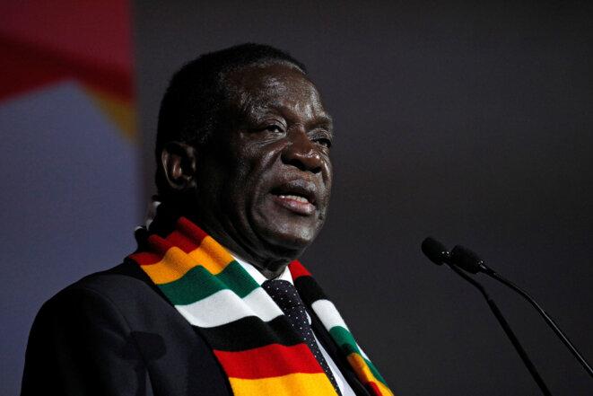 Le président zimbabwéen Emmerson Mnangagwa, en mars 2018. © Reuters