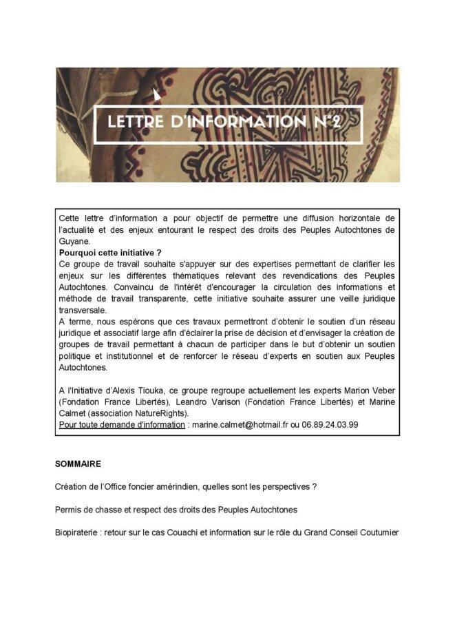 Lettre d'Informations Nº2. (1/8)
