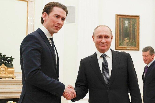 Poutine et Kurz. Vienne le 15 juin. © Komsomolskaya Pravda