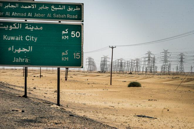 Dans le désert koweïtien. © Thomas Cantaloube