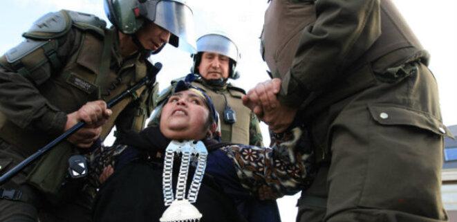 Répression des Mapuche pendant les gouvernements de Michelle Bachelet © La Izquierda Diario
