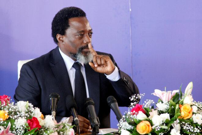 Joseph Kabila à Kinshasa, le 26 janvier 2018. © Reuters