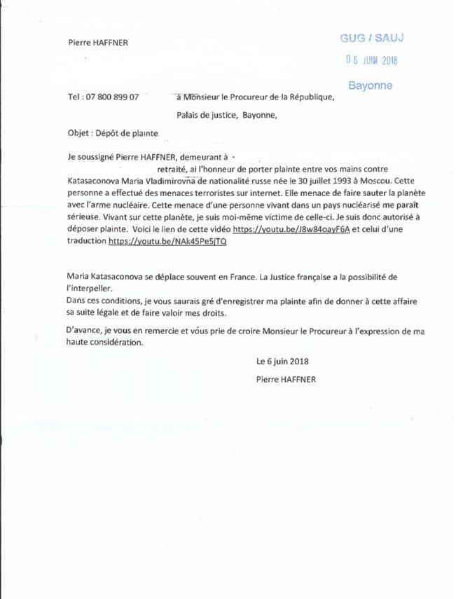 Plainte auprès du procureur © Pierre HAFFNER