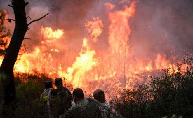 Une tempête de feu s'est abattue en peu de temps sur des zones densément habitées