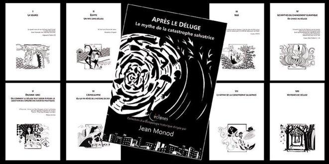 Couverture du Déluge et ses 8 chapitres © Gwenaëlle d'Azémar pour ABC'éditions