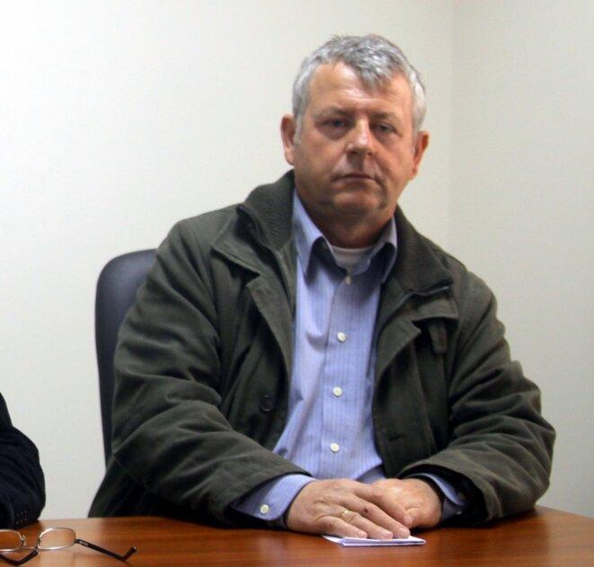 Le président de la Fédération Panhellénique des Salarié-e-s des Hôpitaux Publics grecs, M. Mikhalis YANNAKOS
