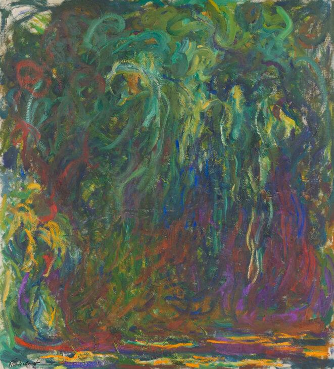 Claude Monet, «Saule pleureur», entre 1920 et 1922
