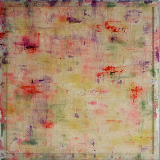 Louis Cane, «Résine grillage», 2014