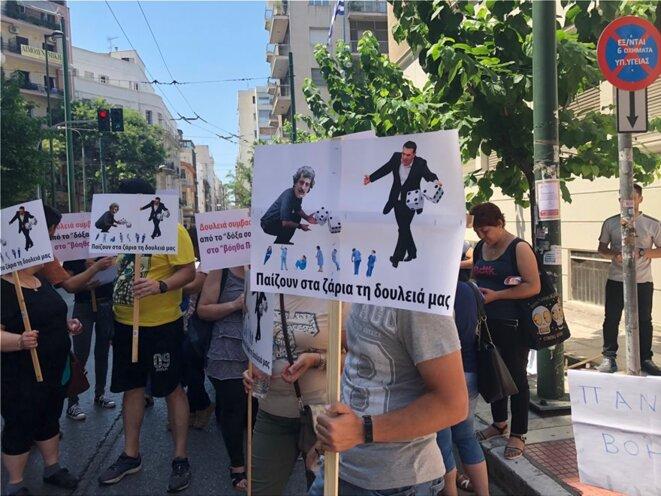 Protestations des salarié-e-s de la Santé contre la politique d'austérité du gouvernement SYRIZA au pouvoir