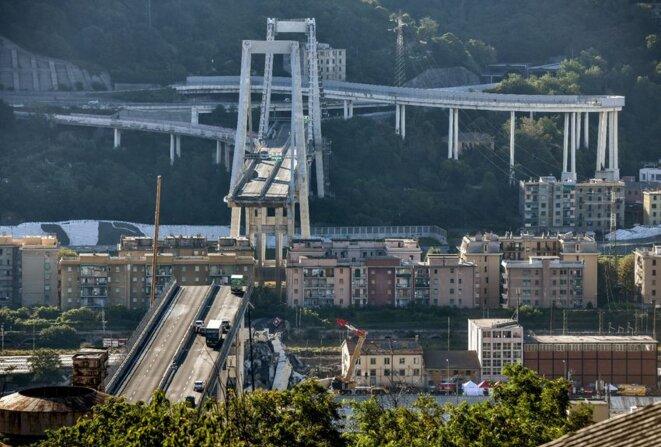 Pont MORANDI Viaduc autoroutier de Gènes (Italie) © AFP / LA PROVENCE
