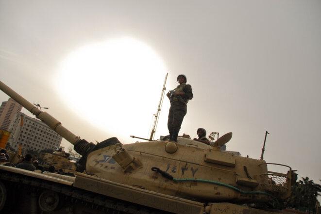 Place Tahrir du Caire en février 2011 : la révolution égyptienne était aussi une crise des pauvres affamés. © Thomas Cantaloube