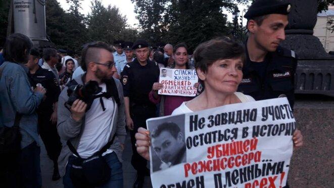 Arrestation d'Olga Mazurova et d'autres militants © Grani.ru