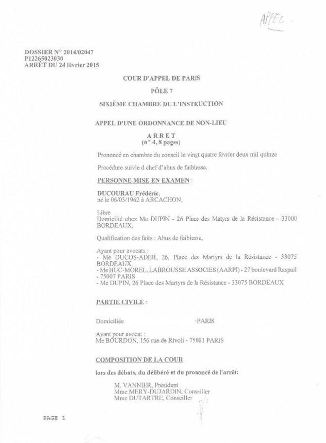 Tribunal correctionnel de paris, Abus de faiblesse c/ Frédéric DUCOURAU