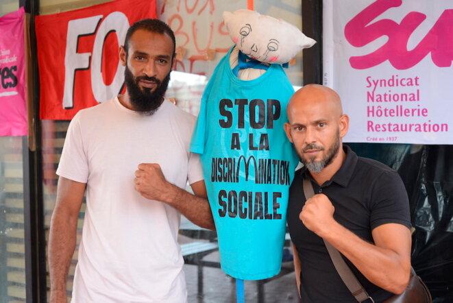 Kamel Guemari et Tony Rodriguez, piliers de la lutte des Mc Donald's marseillais. © LF