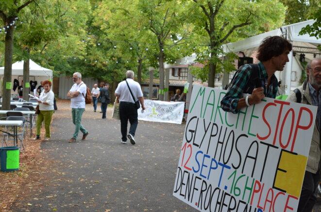 Aux journées d'été d'Europe Ecologie-Les Verts, à Strasbourg, le 24 août 2018. © Justine Brabant