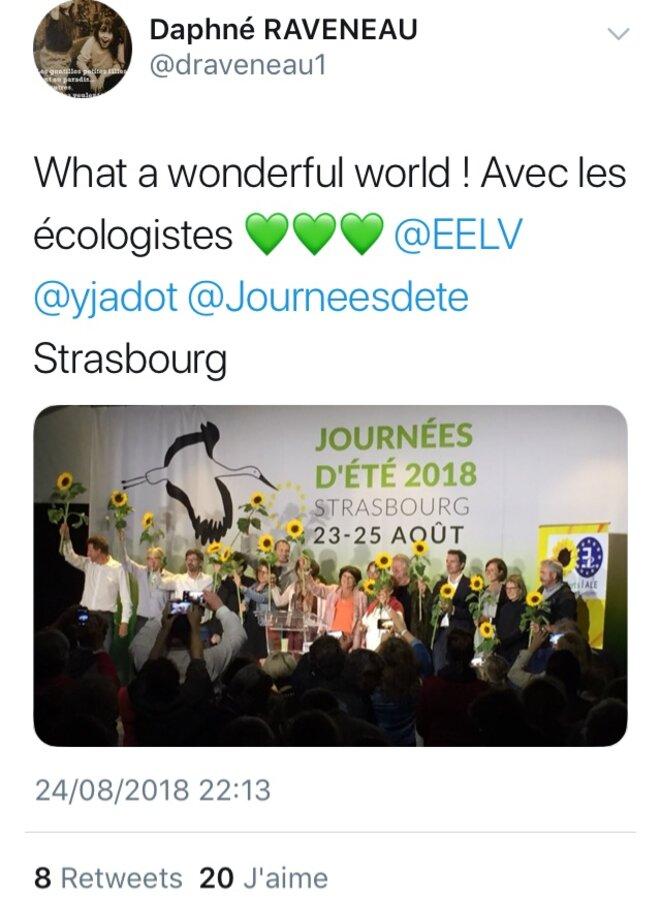"""Remise de prix des """"victoires de l'écologie"""" aux Journées d'été 2018 d'EELV"""