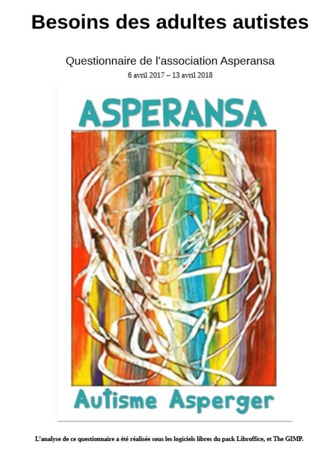 Etude sur le questionnaire d'Asperansa © Amélie Tsaag Varlen