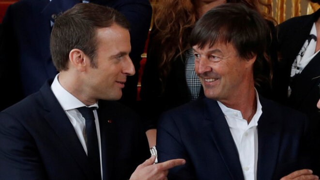 Nicolas Hulot a accusé le pouvoir d'Emmanuel Macron d'être sous l'emprise des lobbys. © Reuters