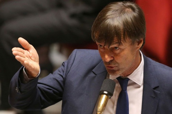 Nicolas Hulot addressing French parliament in September 2017. © Stéphane Mahé/Reuters
