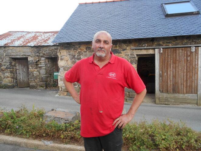 L'éleveur breton Christophe Thomas. © IL/Mediapart