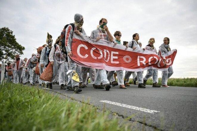 Action contre l'installation gazière de Groningue (Pays-Bas), mardi 28 août 2018. (@Ende_Gelaende)